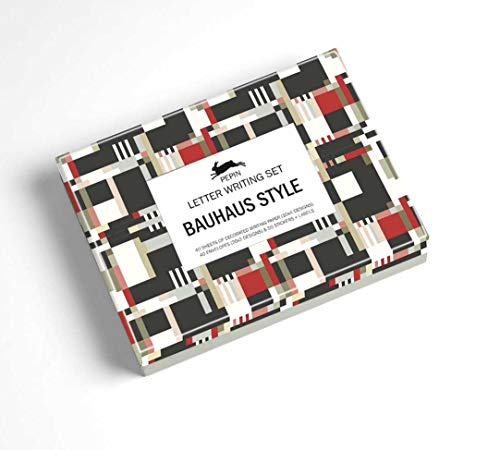Bauhaus Style Letter Writing Set (English, French and German Edition)