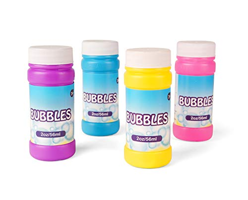 Neliblu Bulk Party Bubbles - 12 Pack 2 Oz Bubble Bottles with Wands - Summer Fun Toys, Party Favors, Goody Bag Stuffers Assorted Colors]()