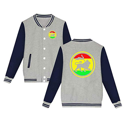 (Jamaican Rasta Lion Unisex Baseball Uniform Jacket Sweatshirt Sport)
