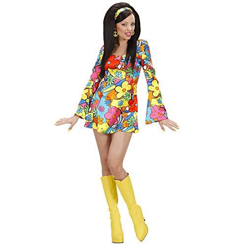Ladies Flower Power Girl Costume Medium Uk 10-12 For 60s 70s Hippy Fancy -