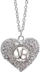 Justin Bieber Crystal Heart Necklace