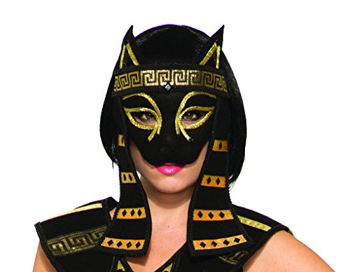 Adult Size Mythical Bastet Mask - Egyptian Cat Goddess Lioness Feline -