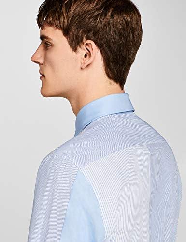 Marca Amazon - find. Camisa de Diferentes Rayas para Hombre