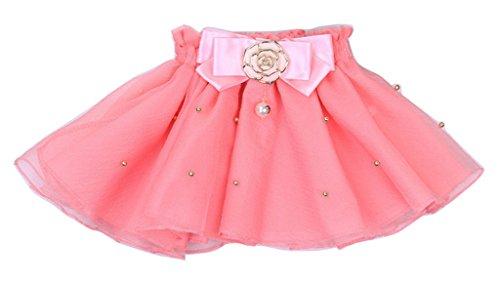 New Bead Flower Bow Tutu Girls Baby Toddler Tutu Skirt Pettiskirt