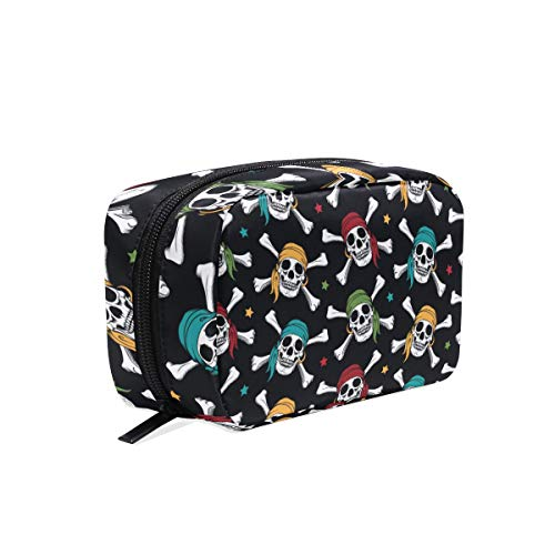 - Makeup Bag Crossbone Skull Pirates Colorful Scarf Cosmetic Pouch Clutch