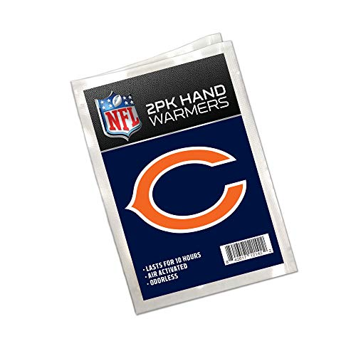 (Worthy Promo NFL Chicago Bears Winter Hand Warmers 20-Pack (10 Pair). Long Lasting 10-Hour Warmth, Air Activated, Odorless. Gifts for Men, Women. Tailgating Accessories, Stocking Stuffers.)