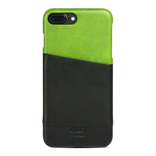 alto Handmade Premium Italian Leather Wallet Case for Apple iPhone 8 Plus / iPhone 7 Plus Metro (Lemon/Raven) by Alto (Image #10)