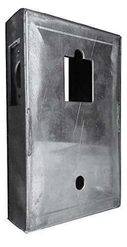 Mechanical Keyless Gate Lock with Lock Box (Steel or Aluminum) (Two Sided - Satin Chrome with Aluminum Lock Box)