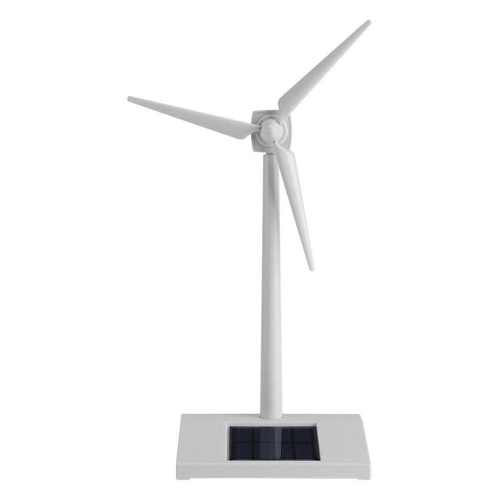 Mini Solar Wind Mill Solar Powered Windmill Toy Kids Children Science Teaching Tool Home Decor Garden Ornament