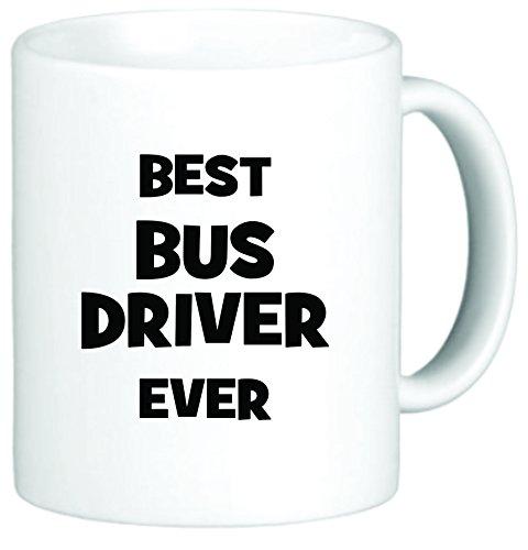 Rikki Knight Best Bus Driver Ever 11 oz Ceramic Coffee Mug Cup