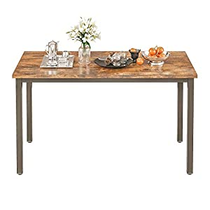 IRONCK Dining Table, Farmhouse Kitchen Table for 4 People, Heavy Duty Metal Frame, Wood Dining Room Table 47 Inch…