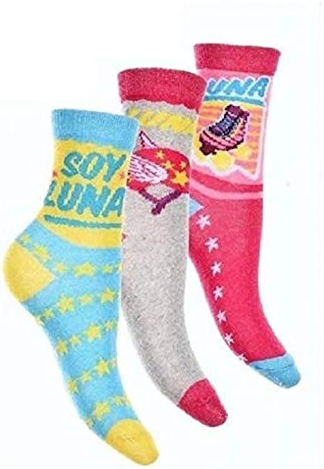 Soy Luna Set 3 paia di calzini 27//30 cm disney