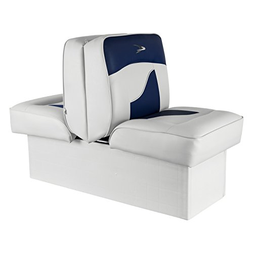 Wise 8WD1033-0031 Contemporary Series Lounge Seat, White/Navy