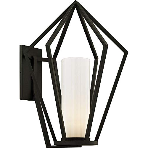 Troy B6343 Whitley Heights Outdoor Wall Sconce, 1-Light 60 Watts, Textured Black