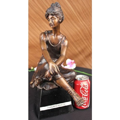 Beautiful Vintage Seductive Lady by Moreau Bronze Sculpture Figure Statue Woman