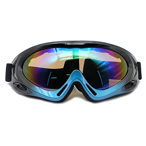 EoCot Motorcycle Sandproof Riding Glasses Mountaineering Goggles Ski Goggles Black ()