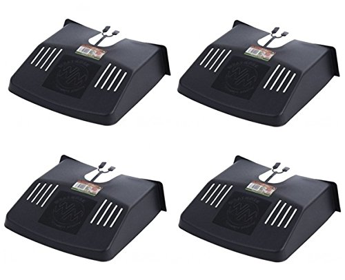 4 x Outdoor Drain Grid Gutter Cover Black Plastic Prevents Blockages To Drains Whatmore