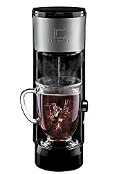 Chefman Coffee Maker K-Cup InstaBrew Brewer - FREE FILTER INCLUDED For Use With Coffee Grounds - Instant Reboil - Small Footprint Single Serve - RJ14-SKG-IR made by Chefman