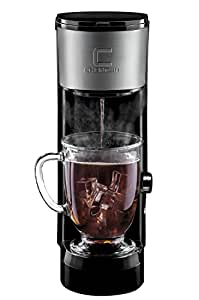 Chefman Coffee Maker K-Cup InstaBrew Brewer - FREE FILTER INCLUDED For Use With Coffee Grounds - Instant Reboil - Small Footprint Single Serve - RJ14-SKG-IR