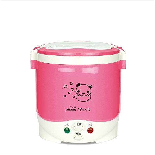 Onezili Hot Sale 3Cups Mini Rice Cooker 12V/24V For Car/Truck (12v pink)