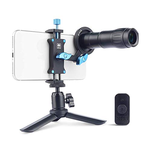 Sirui 400mm Telephoto Mobile Lens with Adapter and Bluetooth Remote for Smart Phones