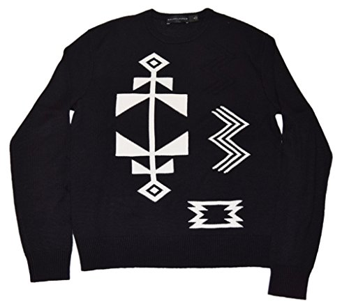 Polo Ralph Lauren Black Label Mens Sweater Linen Cashmere Indian Aztec (Black Label Cashmere Sweater)