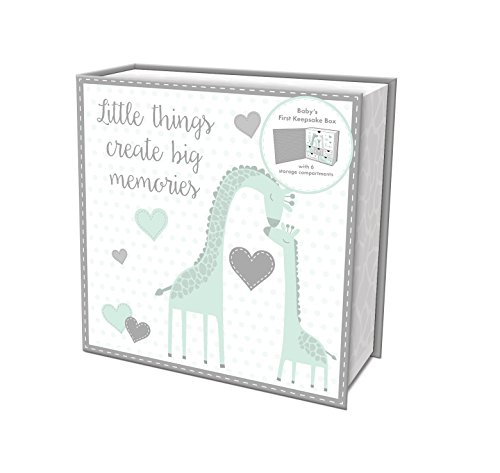 Lady Jayne Baby Giraffe Baby First Memory Keepsake Box ()