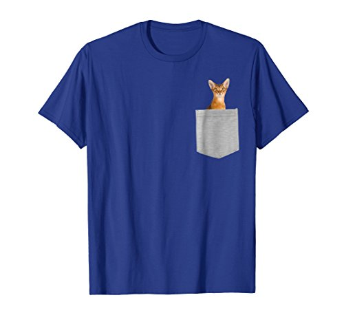 Abyssinian Cat In Your Pocket Shirt