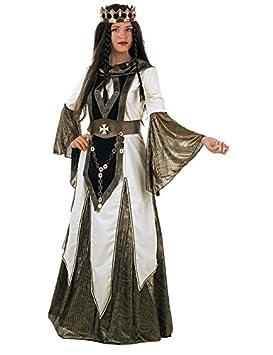 Edad Media Queen Deluxe disfraz plata blanco: Amazon.es: Juguetes ...