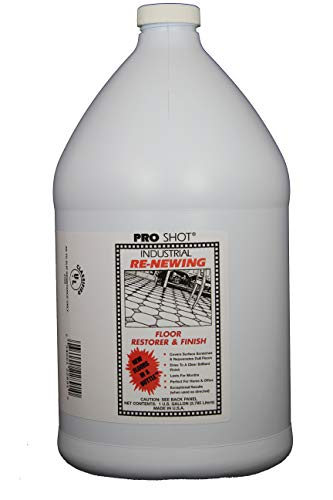 PRO SHOT Industrial Re-Newing Floor Restorer & Finish - 1 Gallon