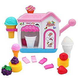 AugToy BathToysfor Toddlers FoamMakerBathtub IceCream Bubble PretendCakePlaySet Tub Water Bathtime Toys Birthday GiftforGirlsBoys KidsAge345 YearsOld