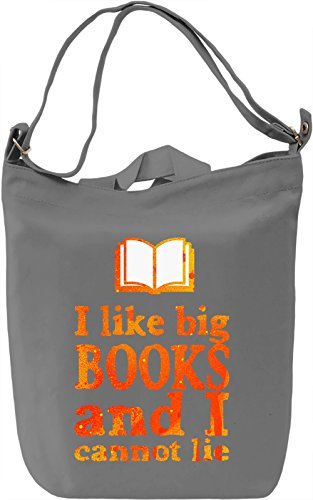 I Like Big Books And I Cannot Lie Borsa Giornaliera Canvas Canvas Day Bag| 100% Premium Cotton Canvas| DTG Printing|