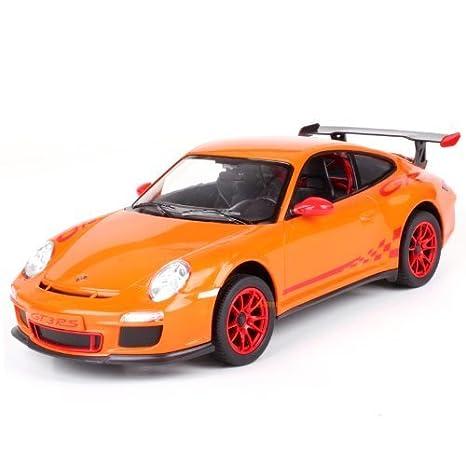 Amazon.com: 1/14 Scale Orange Radio Remote Control Porsche 911 GT3 on
