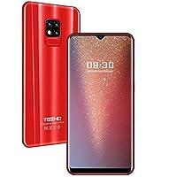 TEENO Moviles Libres 4G,6.2 Pulgadas 3GB RAM+32GB ROM Una Camara,Dual Micro SIM,SD Card,Android Smartphone Libres (Rojo)