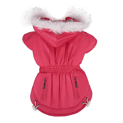 RSHSJCZZY Pet Dog Windbreak Hooded Coat Cold Proof Jacket Warm Coat Pet Apparel Costumes]()