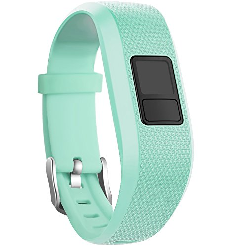 (SKYLET for Garmin Vivofit 3 / Vivofit JR/JR.2 Bands, Soft Silicone Replacement Bands for Garmin Vivofit 3 / JR/JR.2 Accessories Bracelet with Secure Watch Buckle Kids Women Men (No Tracker))