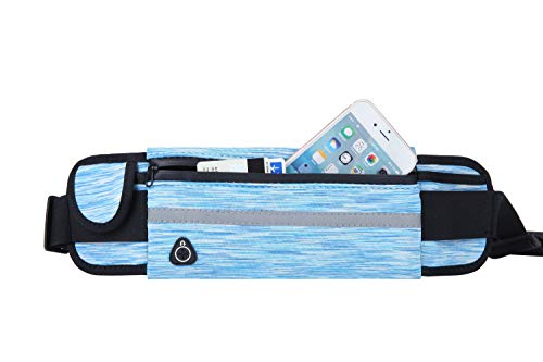 Running Belt Fanny Pack Waist Bag for Men&Women-Card Key Money And Call phone Holder,Adjustable Running Pouch for Running Hiking Cycling Climbing Workout Traveling,And for All Kinds of Phones(Blue)