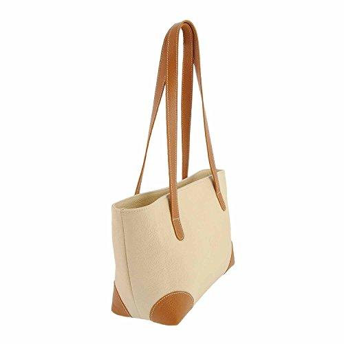 Leather Tote Bag 2 Misure: U Colore: HIELO-CAMEL