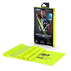 PTP MediBand Resistance/Pilates Band with Exercise Poster, Lime, Light