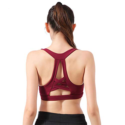 51ed670f61 Tempatation Women s Full Support Racerback Lightly Lined Underwire Sports  Bra (Red S)