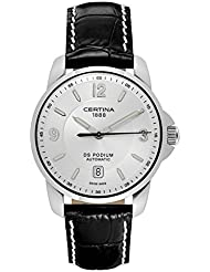 Certina DS Podium Automatic Silver Dial Black Leather Mens Watch C001.407.16.037.00