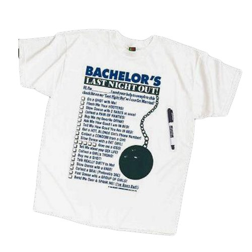Amazon.com: Georges Fun Factory Bachelor Last Night Out T-shirt ...