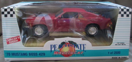 #7027 Ertl Peach State Muscle Car '70 Mustang Boss 429,Red 1/18 Scale Diecast