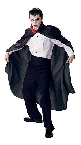 Seasons Direct Halloween Costumes Men Taffeta Vampire Cape for Adult Red and -