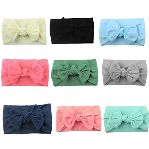 GuGio Super Stretchy Knot Cloth Baby Headbands For Newborn Baby Girls Infant Toddlers Kids (1 pc)
