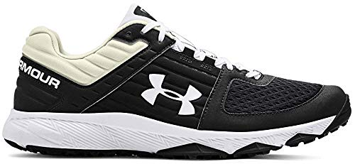 Under Armour Men's Yard Trainer Baseball Shoe, Black (001)/White, 14