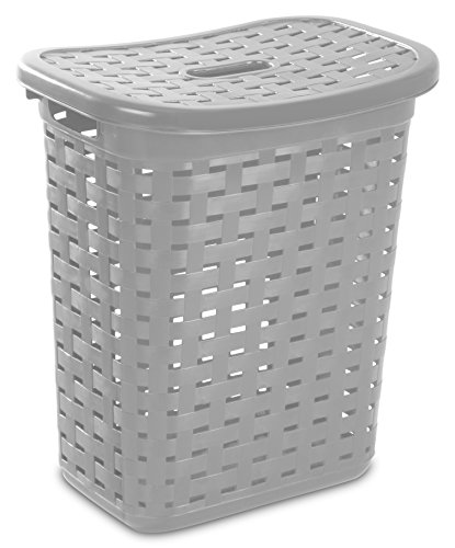 Sterilite 12766A04 Weave Laundry Hamper, Cement, 4-Pack