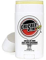 Crisbee Stik Original Cast Iron Seasoning - Family Made in USA - The Cast Iron Seasoning Oil & Conditioner Preferred by Experts - Maintain a Cleaner Non-Stick Skillet
