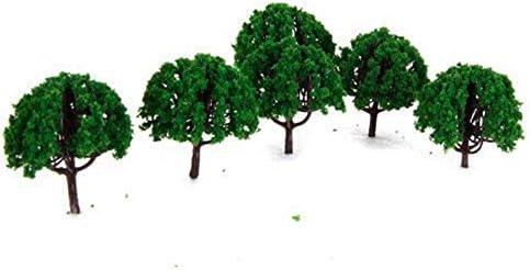 Hommy 20本 1/150 樹木モデル ツリー 鉄道景観 電車模型用 アクセサリー ディープグリーン (20本)