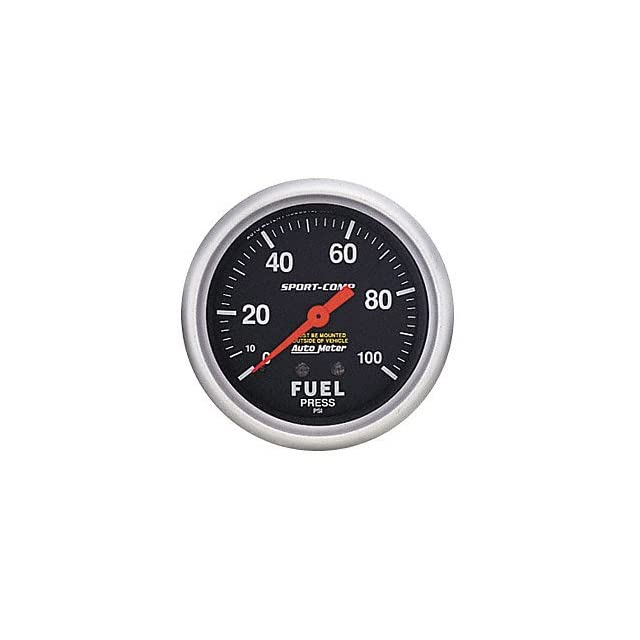 Auto Meter 3412 Sport Comp Mechanical Fuel Pressure Gauge